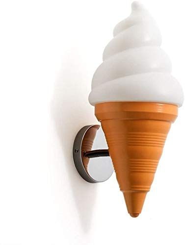 Raelf Dekorative Wandleuchte for Sconce Cafe Restaurant Getränke Dessert-Geschäfts-Cartoon Konische Ice Cream Wand-Laterne Wanddekoration Lampe kreative Wand-Wand-Lampe for Wohnzimmer Kinder Schlafzim