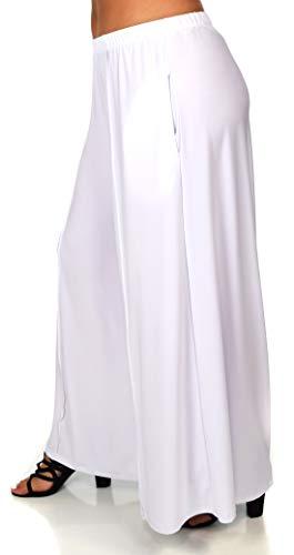 Dare2BStylish Women Plus Size Loose Fitting Boho Palazzo Pants White
