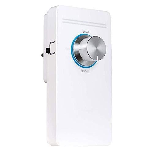 JJHOME Purificador de Aire, Limpiador casero de Aire ionizador de Aire Elimina el Dormitorio Alérgenos aliviar el asma de heno Fiebre del Desodorante Socket Typers,Blanco