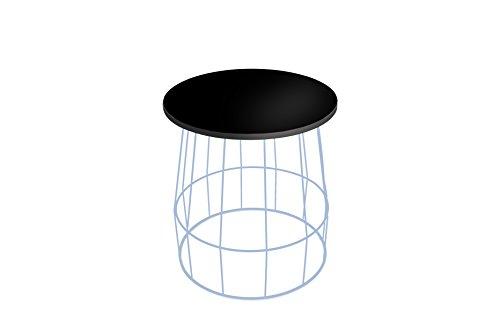 KadimaDesign Coco Conjunto de Lado Azul/Negro tamaño: 50x46x46 pequeña: 44 x 40 x 47