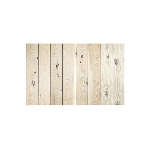 Decowood - Cabecero para Cama Dormitorio, Lamas Verticales Rectas, Madera de Pino Natural - 160 x 80 cm