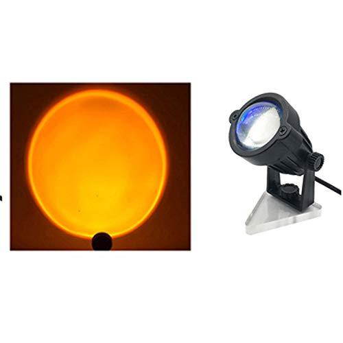 VELIHOME Luz do pôr do sol projeção do pôr do sol – fundo do projetor arco-íris/sol/pôr do sol 5 W LED luz de projeção USB ângulo doméstico ajustável 7,510 cm
