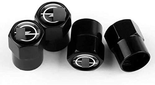 Cubierta de neumático a prueba de polvo antirrobo de aleación de aluminio cubierta de válvula de neumático de coche accesorios de neumático para Op-el Vauxhall Astra H G J Vectra Antara Zafira Corsa