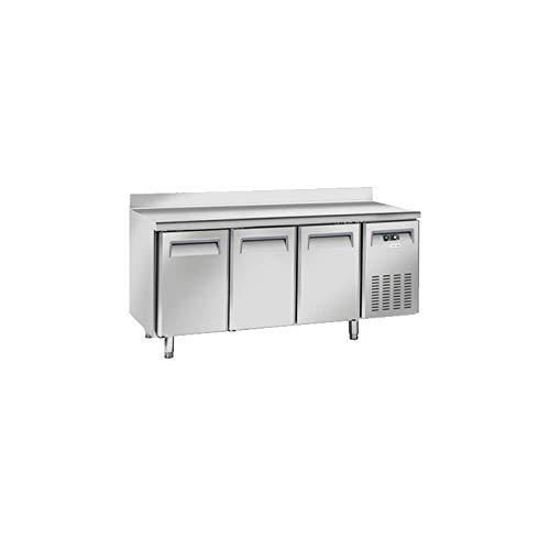 Table Réfrigérée Négative 3 Portes avec Dosseret - Profondeur 600 - Cool Head - 600