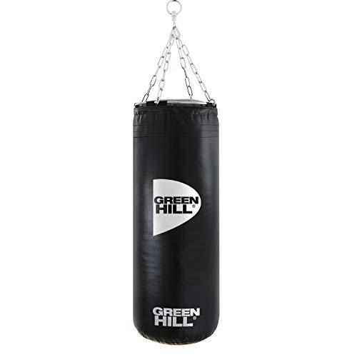 GREEN HILL Sacco da Boxe Vinile Pugilato Pieno 90x35 Riempito 25kg Boxing Punching Bag Saccone Pieno