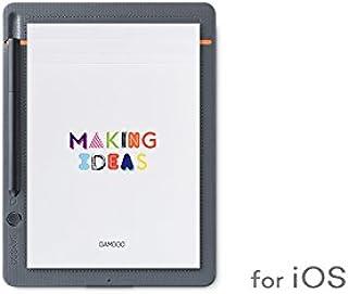 【ワコムストア限定】Bamboo Slate small for iOS (CDS-610S/G1) A5サイズ スマートパッド 電子ノート ボールペンで紙にメモやスケッチを書いてデジタル化 スマホ タブレット対応