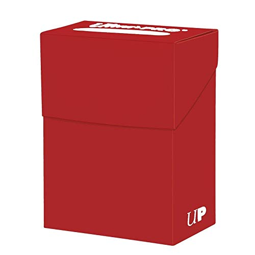 Ultra Pro Solid Red Deck Box, Adultos Unisex, Carta Standard