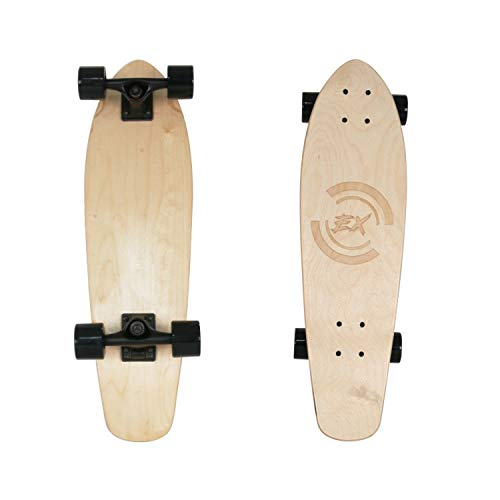 Pro Skateboard Standard Skateboards Cruiser Complete Canadian Maple 8 Layers Double Kick Concave Skate Boards (Black)