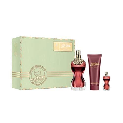 Jean Paul Gaultier La Belle Eau de Parfum, 50 ml, 2020 Geschenk-Set (enthält 50 ml EDP, 75 ml Bodylotion + 6 ml Miniature)