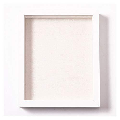 Muzilife 3D Bilderrahmen zum Befüllen 20x25cm Tiefe Box Objektrahmen mit Glasscheibe 1 Stück Weiß