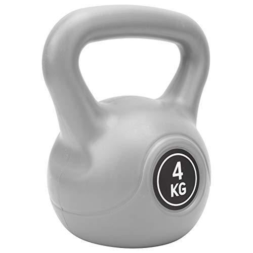 Mxzzand Kettle Bell Weight Safe Práctico Kettlebell Que Ahorra Espacio, para Fitness(Gray)