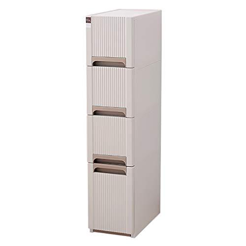 24cm 4 Ebenen Gesteppter Lagerschrank Schubladentyp Bad Kunststoffspind Küchenregal Kühlschrank Schmaler Schrank