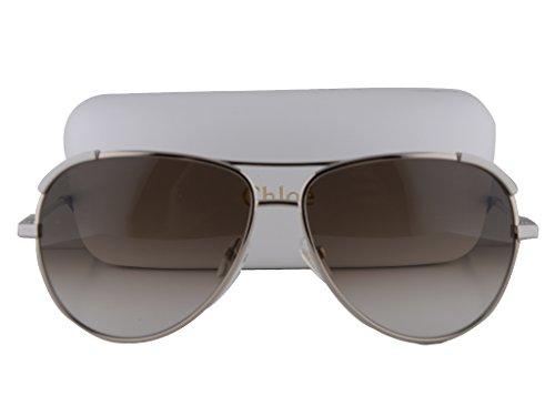 Chloe CE118S Sunglasses Light Gold/Light Gray w/Brown Gradient Lens 727 CE 118S