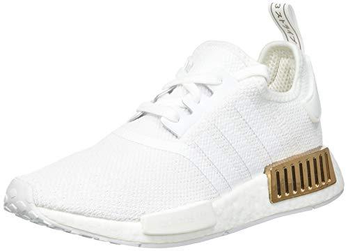 adidas Damen NMD_R1 Sneaker, Cloud White/Cloud White/Copper Metallic, 38 2/3 EU