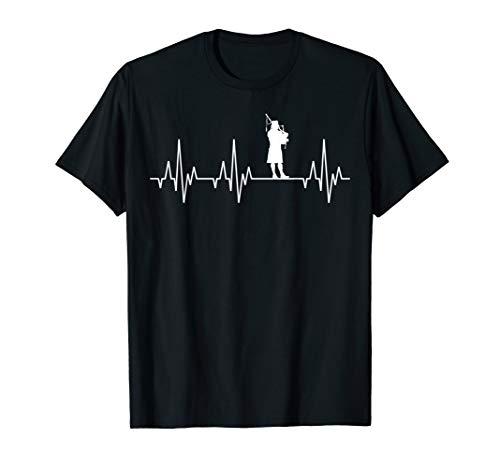 Dudelsack Dudelsackspieler Herzschlag Fun T-Shirt Schottland