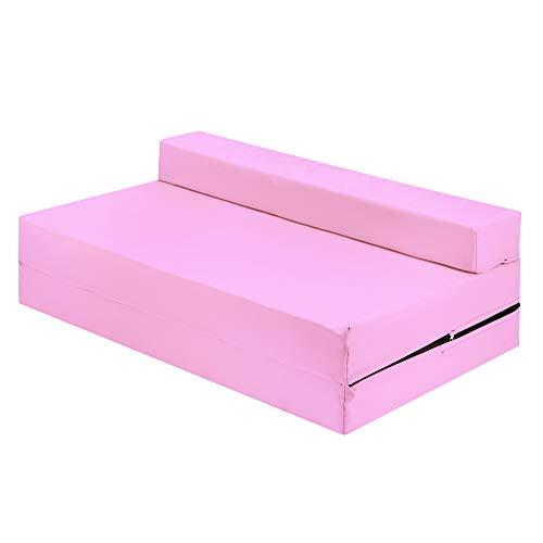 IKB Silla de invitados plegable Z cama doble futón sofá cama supletoria para adultos y niños colchón plegable Z cama - bebé rosa