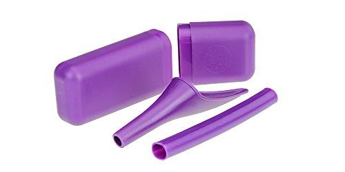 SHEWEE Extreme - Wiederverwendbarer Pipi-Trichter - das ursprüngliche Uriniergerät für Frauen seit 1999! Schnell, einfach und diskret stehen wir auf, ohne Kleidung auszuziehen. Kommt mit einem Verlängerungsrohr und einer Tragetasche (Purple)