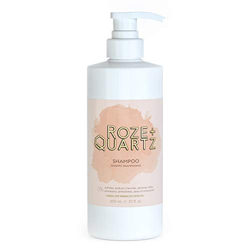 Roze + Quartz Paraben, Silicone & Sulfate Free Shampoo   Salon Grade Moisturizing Shampoo for Dry Damaged Hair   Hydrating Shampoo for Color Treated Hair & All Hair Types   Cruelty Free Vegan Shampoo