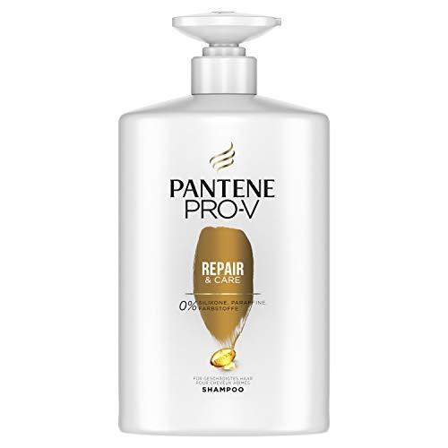 Champú Pantene Pro-V XXL Repair & Care para cabello dañado, 1 litro, con dispensador, cuidado del cabello seco, champú para mujer, cuidado del cabello seco, brillo XXL