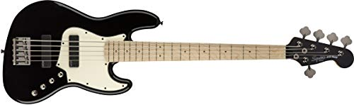 Squier by Fender Contemporary Active Jazz Bass V HH, Maple Fingerboard, Black