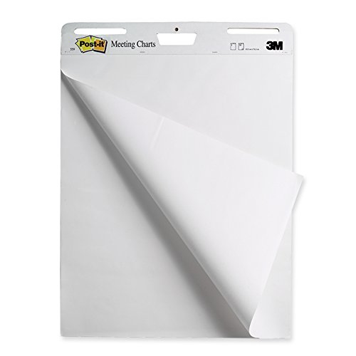 Post-it 559 - 1 bloque de 30 hojas autoadhesivas 63, 5 x 77, 4 cm - Blanco