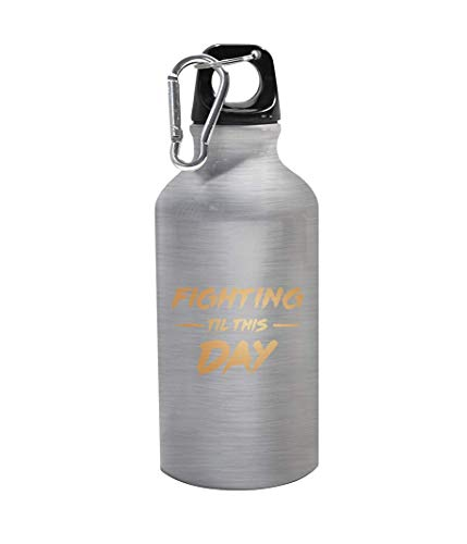 graphke Fighting Til This Day Carabine Metallflasche Thermo-Reiseflasche