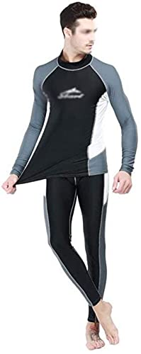 Traje de baño de Moda Traje de Buceo Camiseta Camiseta en Traje de Snorkeling Manga Larga Protector Solar para Hombres Split Split Traje de Sol Protector Solar Traje de baño Playa Deportes de Agua