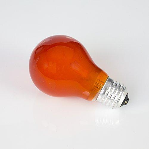 showking Farbleuchtmittel A19 230V / 25W / Sockel E - 27 / orange/Partybeleuchtung - farbige Glühbirne