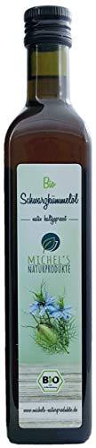 Michel´s Naturprodukte Bio Schwarzkümmelöl 500ml, gefiltert, ägyptisch, kaltgepresst, 1. Pressung, 100{871ebe3d6f446701932c5494ae939dc5c72e970514e822864e534801cd11eb3b} naturrein ,vegan, nativ