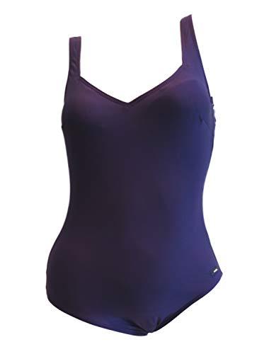 Solar Edler B-Cup Damen Badeanzug Dry Weave Lycra in Lila - schnelltrocknend (38)