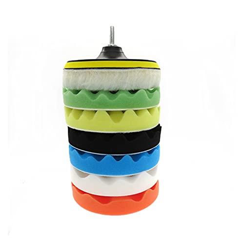 QWHK Store - Juego de 8 almohadillas de esponja de pulido para coche, para herramientas de limpieza de coche, color 6 pulgadas