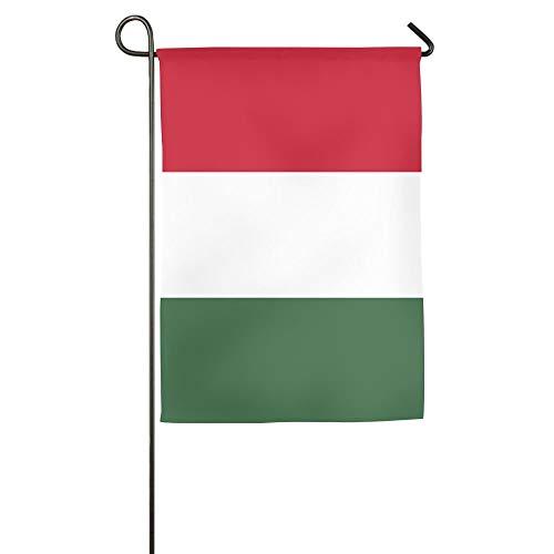 ONGH Bandera de Hungría Floral Garden Yard Flag Banner para la Flor de la casa Exterior, Mejor para el Patio de la Fiesta y la decoración del hogar al Aire Libre