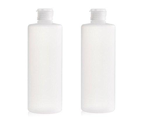 2 Stück 200 ml transparent leer Reise nachfüllbar PE-Kunststoff Weiche Röhren Flasche Emulsion Verpackung Fall Make Up Cosmetics Behälter für Facial Cleanser Shampoo Cleanser Dusche einfach zu Squeeze
