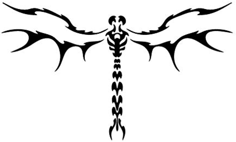 Dragonfly Hell - Animal Decal [12cm Black] Vinyl Sticker for Car, Bike, iPad, Laptop, MacBook, Helmet