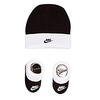 NIKE Baby Hat and Booties 2-Piece Set Black/White 0/6M