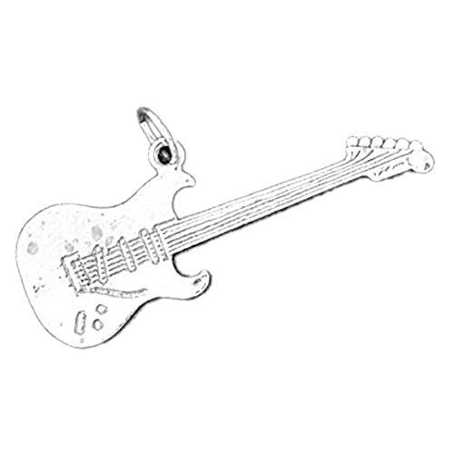 Jewels Obsession Anhänger Gitarre Sterling-Silber 925 18 mm