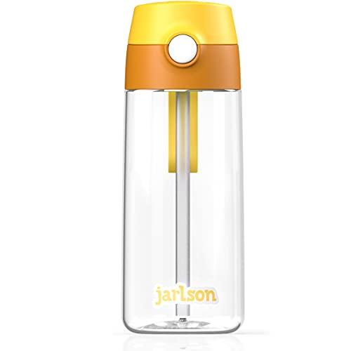 Jarlson Botella Agua Infantil, ninos - Botellas de Agua 500 ml niños - sin bpa - con Paja - para la Escuela y Deportes - Hecho de plástico de alta calidad…