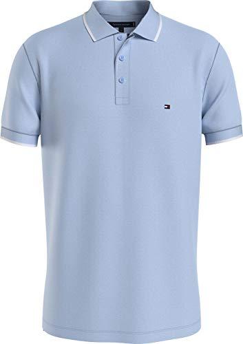 Tommy Hilfiger Herren Basic Tipped Regular Polo Polohemd, Blau, XL