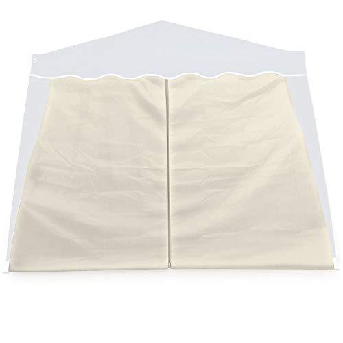 Deuba Seitenwand Pavillon 2er Set 3x3m Wasserabweisend Faltpavillon Pop Up Party Zelt Pavillonwand Seite Zubehör Beige