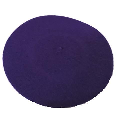 rsafashion Baskenmütze für Damen, aus reiner Schurwolle, für Winter und Frühling. Gr. One size, violett