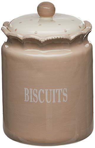 Better Best 2891312 & Boîte de Biscuits céramique Rond Petit Couleur : Beige
