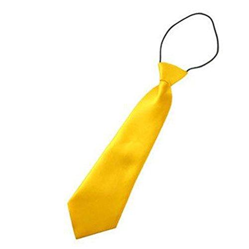 Gleader Corbata de Poliester para Ninos - Amarillo
