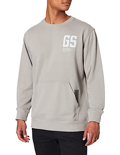 G-STAR RAW Stitch Pocket Relaxed Sudadera, Charcoal A613-942, M para Hombre