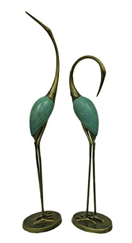 SPI Home 33336 Stylized Garden Crane Pair Sculpture