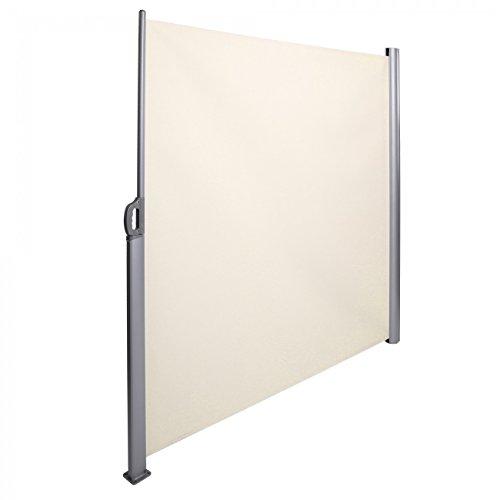 Strattore Tenda Da Sole Paravento Laterale Frangivento Estensibile Vento Verticale 180X300 Cm Crema