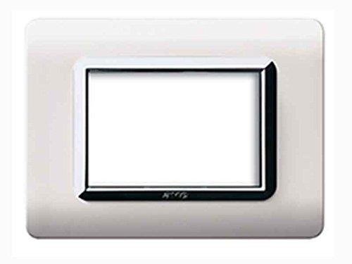 Placca Ave 'Tecnopolimero 44' 3 Moduli Bianco 44Py03Blc