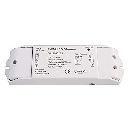 Fuente de alimentación DALI PWM atenuador 12 24 V 2 CH 5 A tiras controlador LED RGB IEC62386