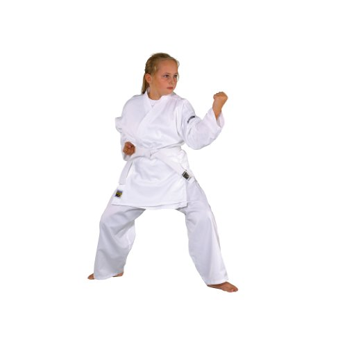 Kwon Karate Basic - Kimono de Artes Marciales Infantil, tamaño 120 cm, Color Blanco