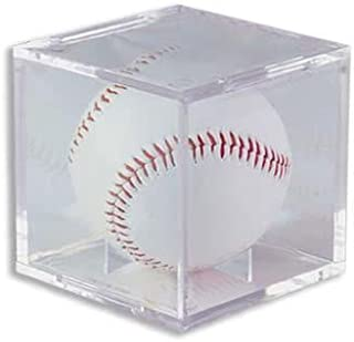 Ultra Pro DR-700394356 (1) One, Ultra-PRO Baseball Cube Holder, Ultra PRO's Baseball Holder is the top of the line Protector & the best way to display & protect Baseballs. No PVC & Acid Free so it will not damage Balls or Autographs, Clear