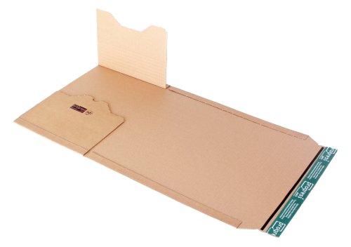 progressPACK Universal-Versandverpackung Premium PP B02.12 aus Wellpappe, DIN C4, 328 x 255 x bis 80 mm, 20-er Pack, braun